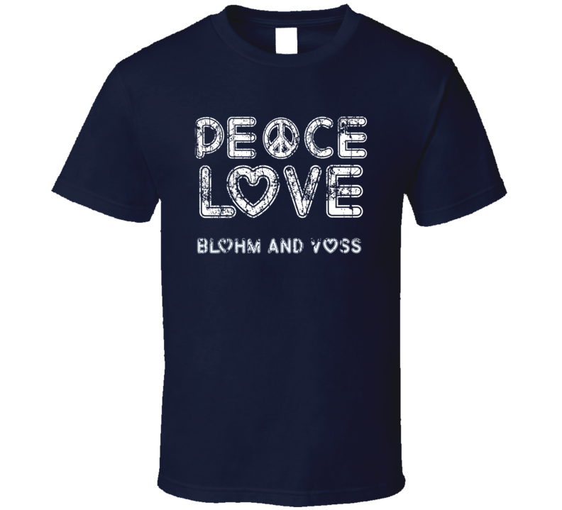Peace Love Blohm + Voss Cool Boat Lover Fun Worn Look Summer T Shirt