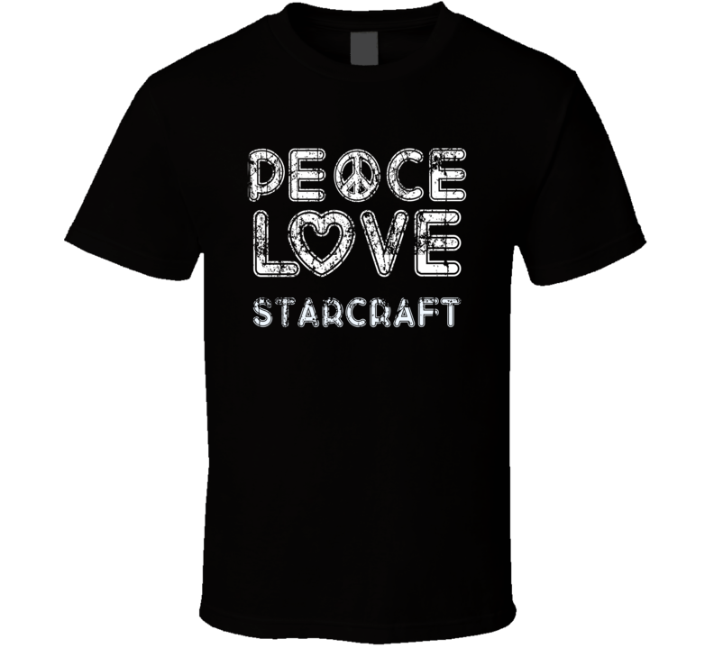 Peace Love Starcraft Cool Boat Lover Fun Worn Look Summer T Shirt
