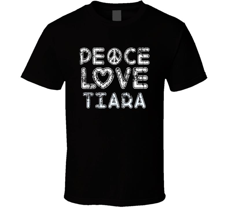 Peace Love Tiara Cool Boat Lover Fun Worn Look Summer T Shirt