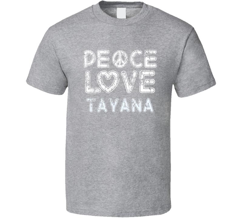 Peace Love Tayana Cool Boat Lover Fun Worn Look Summer T Shirt