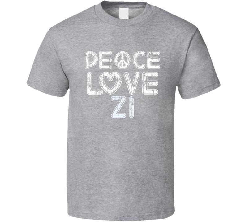Peace Love Z1 Cool Boat Lover Fun Worn Look Summer T Shirt