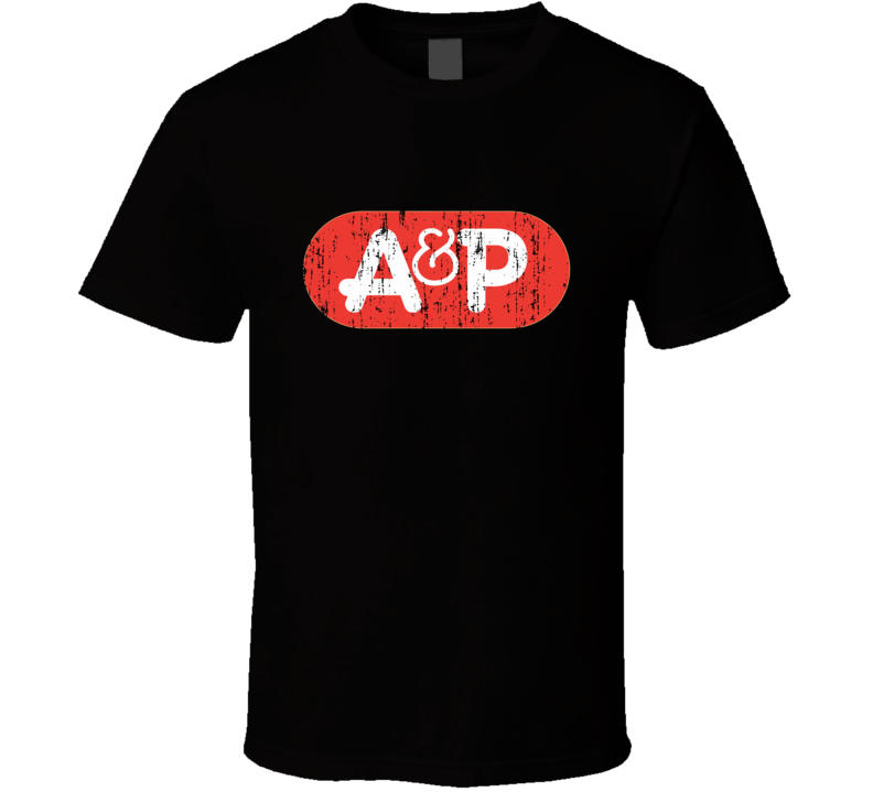 A&P Supermarkets Cool Grocery Store Pop Culture Worn Look T Shirt