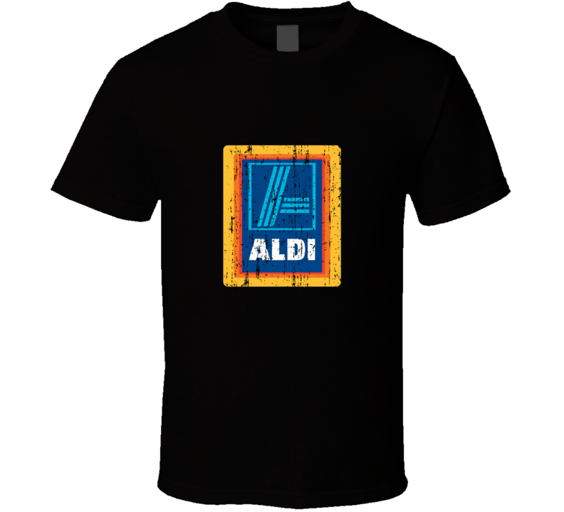 Aldi Cool Grocery Store Pop Culture Worn Look T Shirt