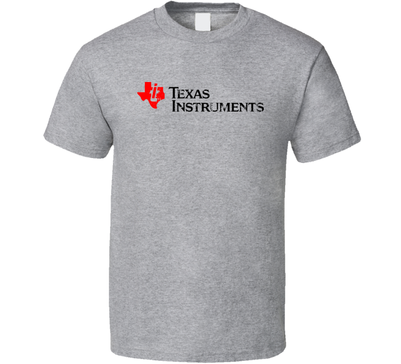 Texas Instruments Retro Electronics Brand Father's Day Grunge T Shirt