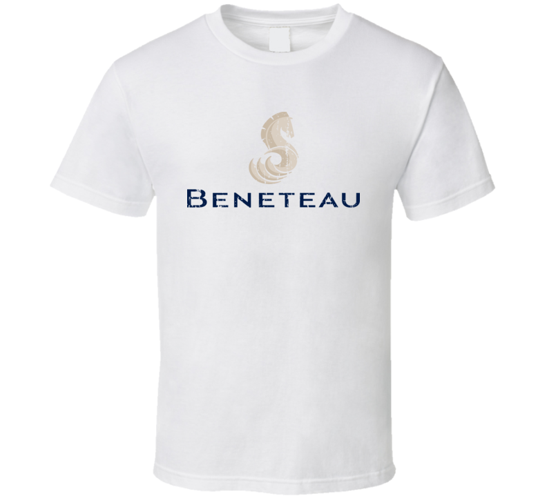 Beneteau Boat Brand Marine Fathers Day Worn Look T Shirt