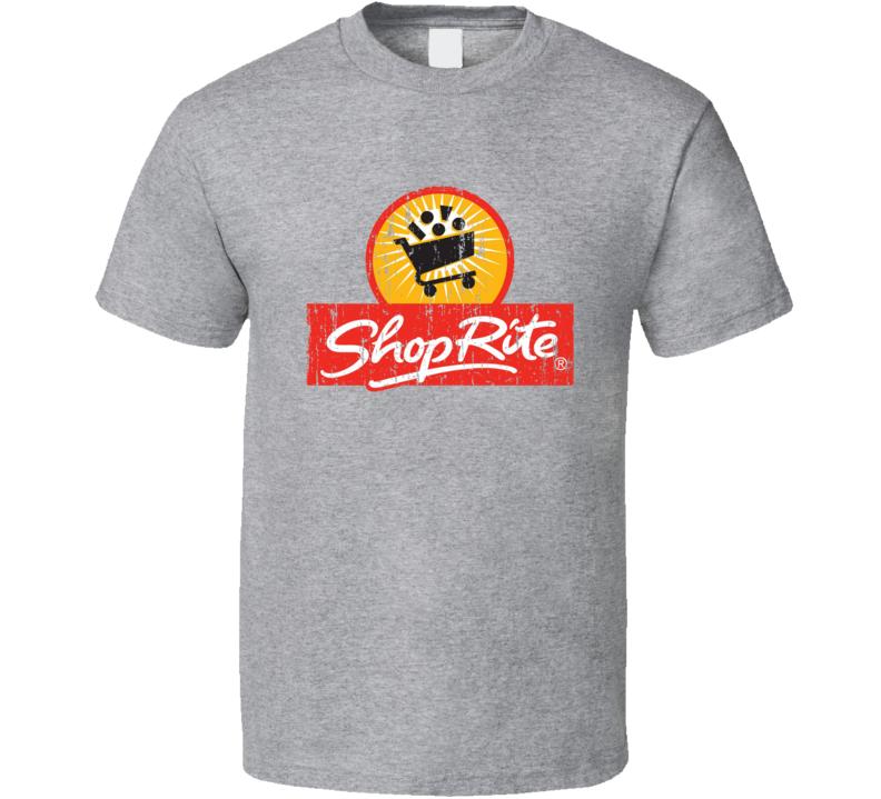 ShopRite Cool Grocery Store Pop Culture Worn Look T Shirt Logo