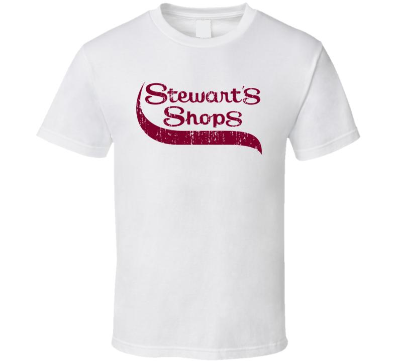 Stewart's Shops Cool Grocery Store Pop Culture Worn Look T Shirt