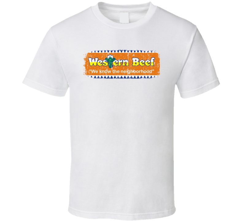 Western Beef Cool Grocery Store Pop Culture Worn Look T Shirt