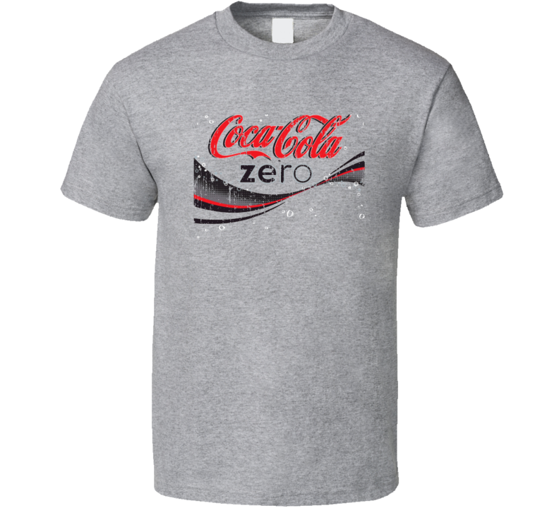 Coca Cola Zero Beverage Cool Faded Look T Shirt