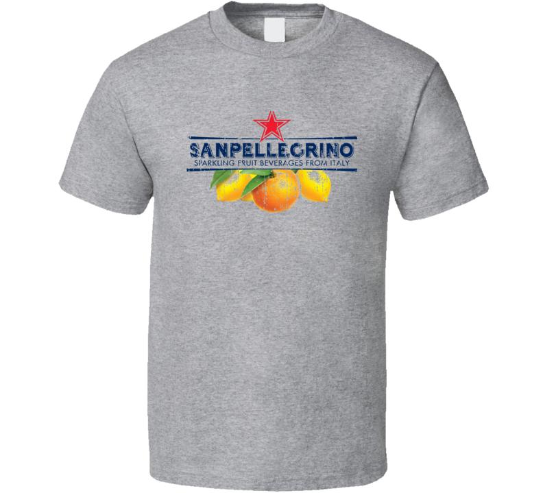 San Pellegrino Beverage Cool Faded Look T Shirt