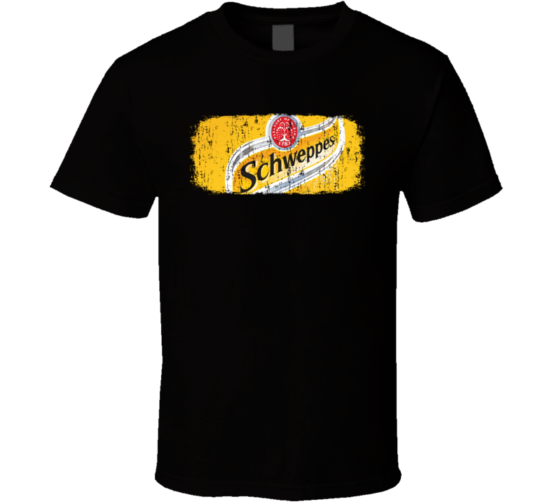 Schweppes tonic water Beverage Cool Faded Look T Shirt