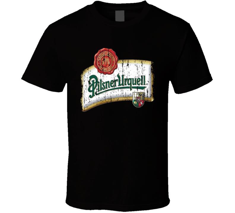 Pilsner Urquell Premium Beer Cool Worn Look Tshirt