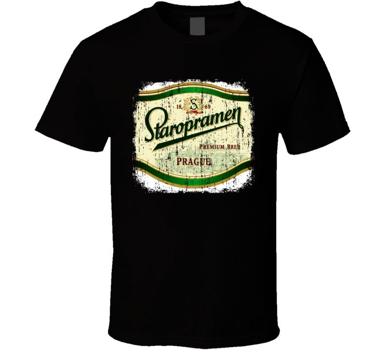Prague Staropramen Premium Beer Cool Worn Look Tshirt