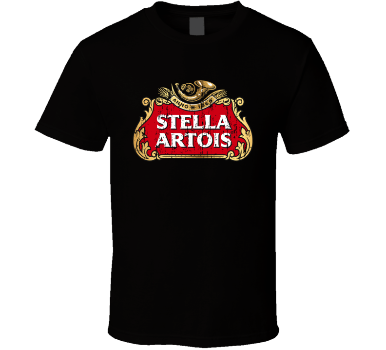 Stella Artois Premium Beer Cool Worn Look Tshirt