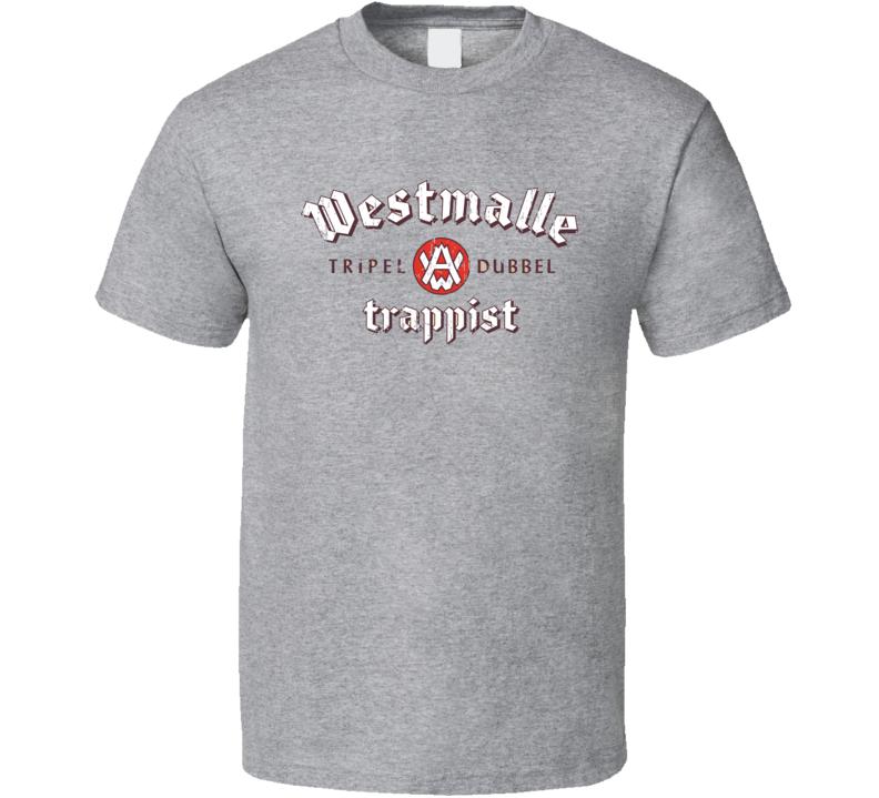 Westmalle Dubbel Belgian Beer Ale Lover Cool Worn Look T Shirt