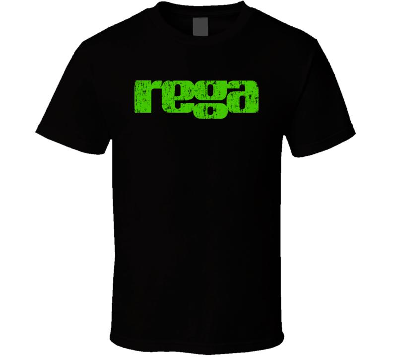 Rega Cool Vintage Audio Guy Father's Day Dad Grampa Grunge T Shirt