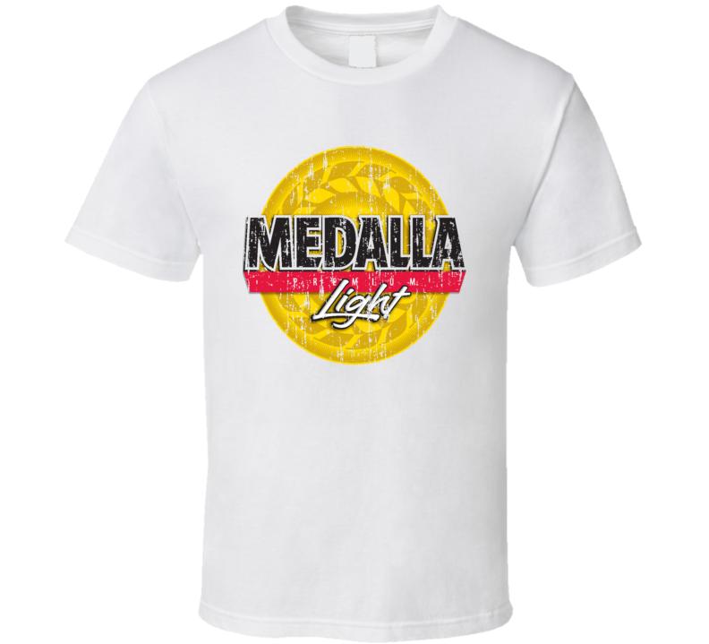 Medalla Light Puerto Rico Latin American Beer Drink Worn Look T Shirt