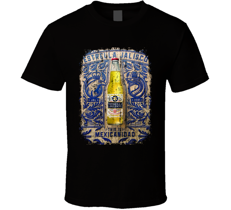 Estrella Mexican Latin American Cool Beer Drink Worn Look T Shirt