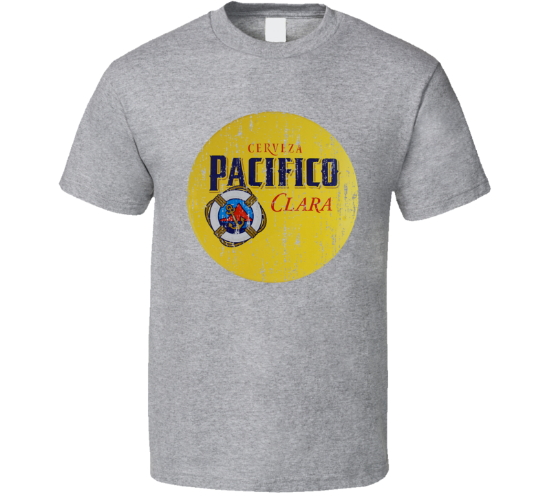 Pacifico Cerveza Clara Latin American Cool Beer Worn Look T Shirt