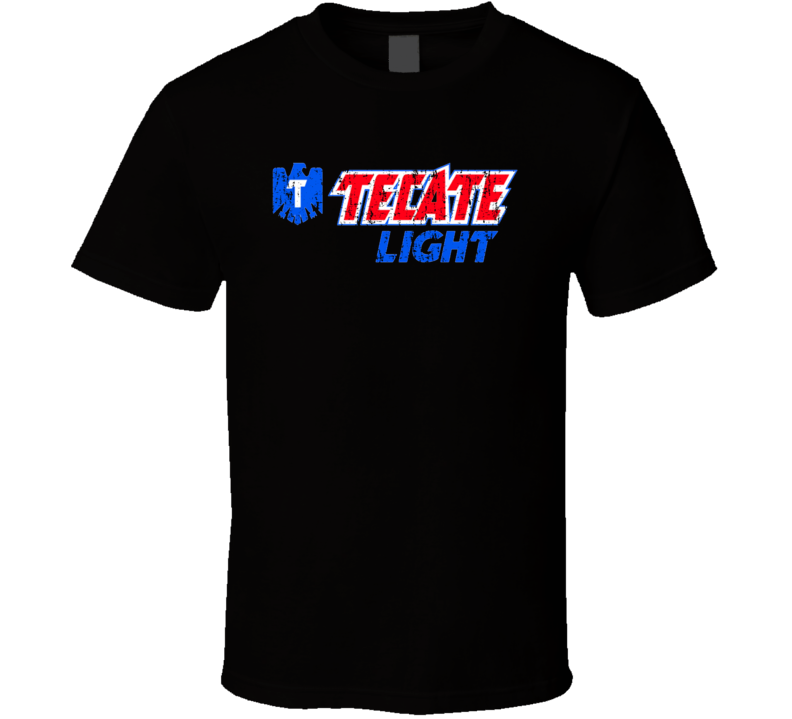 Tecate Light Mexican Latin American Cool Beer Drink Worn Look T Shirt