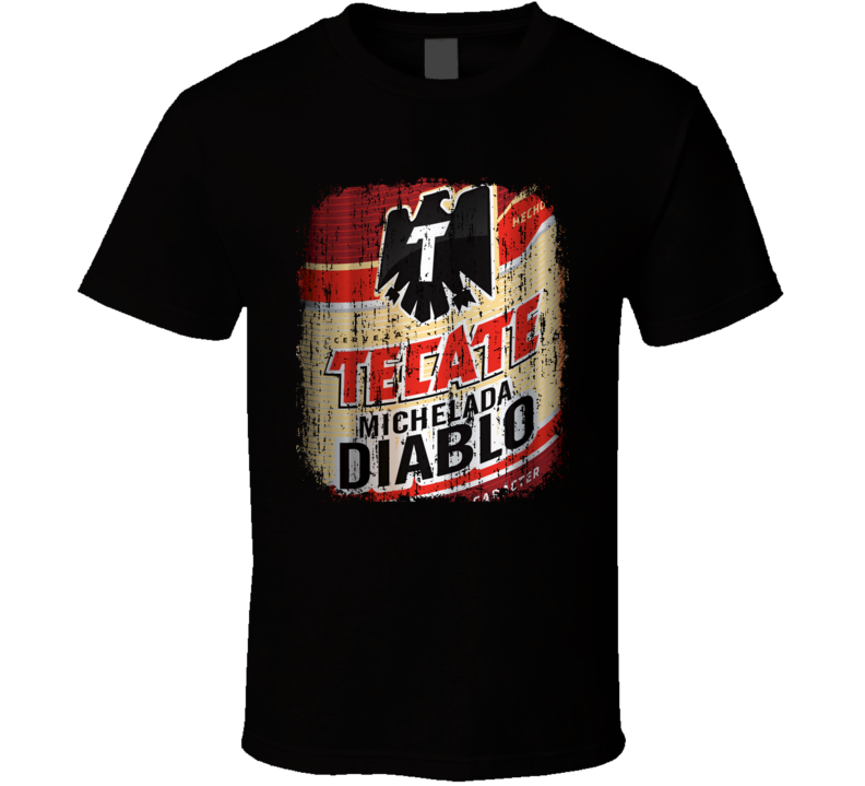 Tecate Michelada Diablo Latin American Cool Beer Worn Look T Shirt