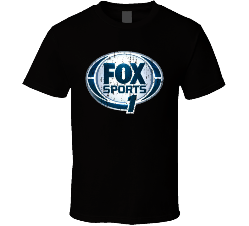 Fox Sports 1 TV Sports Channel Network Worn Look T Shirt