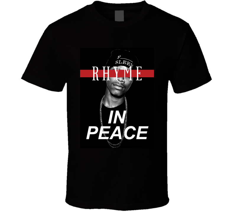 Rhyme In Peace Lil Snupe Fan Hip Hop Memorial Tribute T Shirt