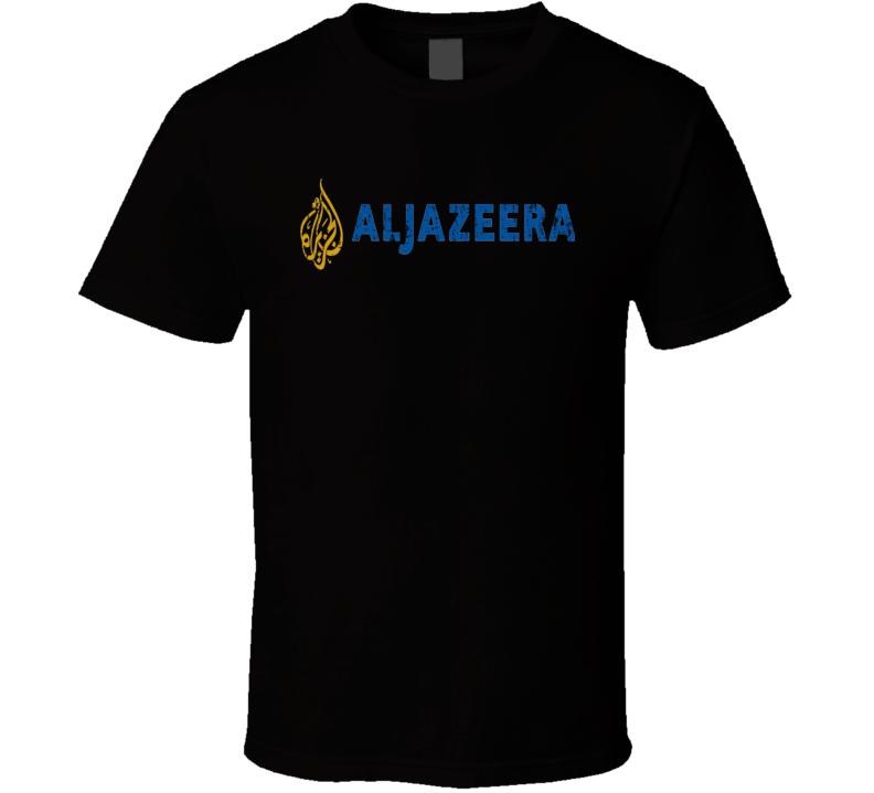 Al Jazeera Sports TV Sports Channel Network Worn Look T Shirt