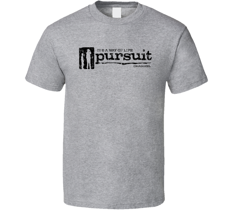 Pursuit Channel TV Sports Channel Network Worn Look T Shirt