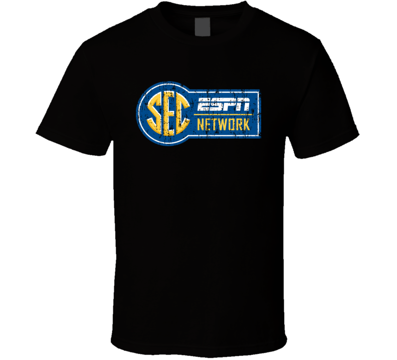 SEC Network TV Sports Channel Network Worn Look T Shirt