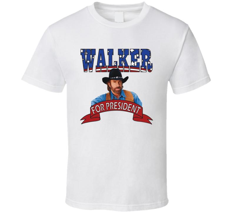 Walker For President Texas Ranger Fan Elections Parody T Shirt