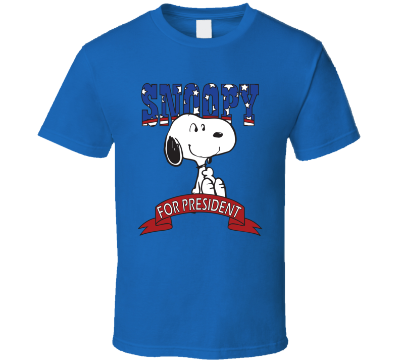 Snoopy For President Peanuts Fan Elections Parody T Shirt