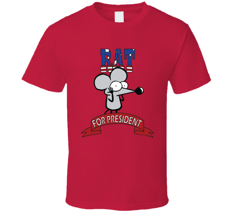 Rat For President Pearls Before Swine Fan Elections Parody T Shirt