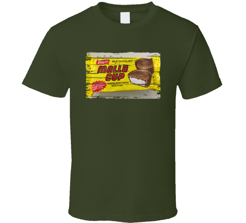 Mallo Cup Chocolate Worn Look Candy Gift T Shirt
