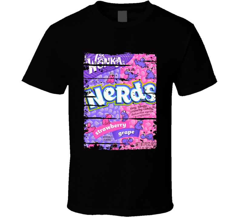Nerds Chocolate Worn Look Candy Gift T Shirt