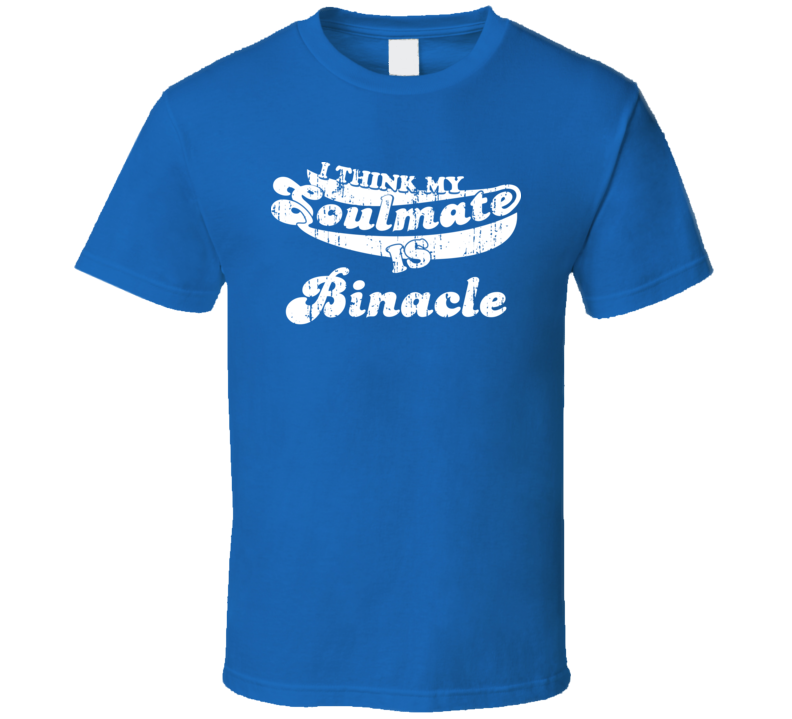I Think My Soulmate Is Binacle Best Pokemon Worn Look T Shirt