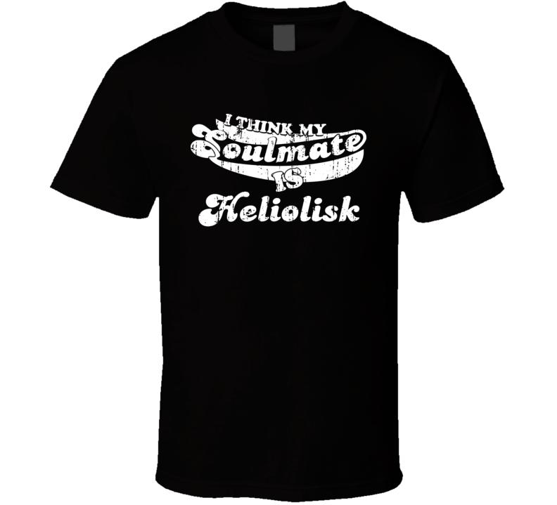 I Think My Soulmate Is Heliolisk Best Pokemon Worn Look T Shirt
