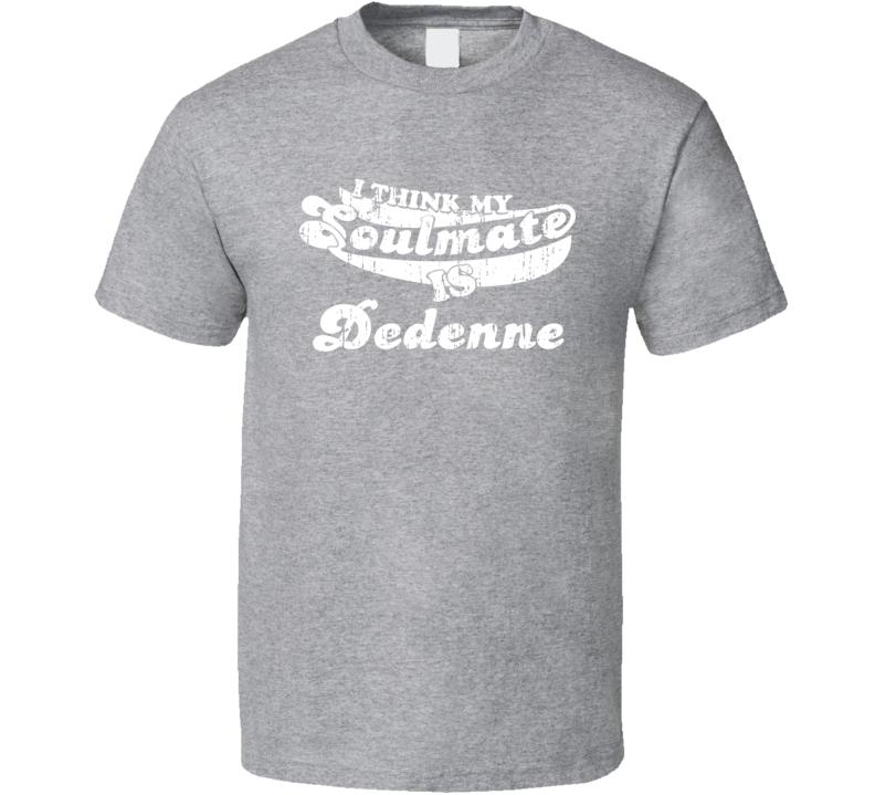 I Think My Soulmate Is Dedenne Best Pokemon Worn Look T Shirt