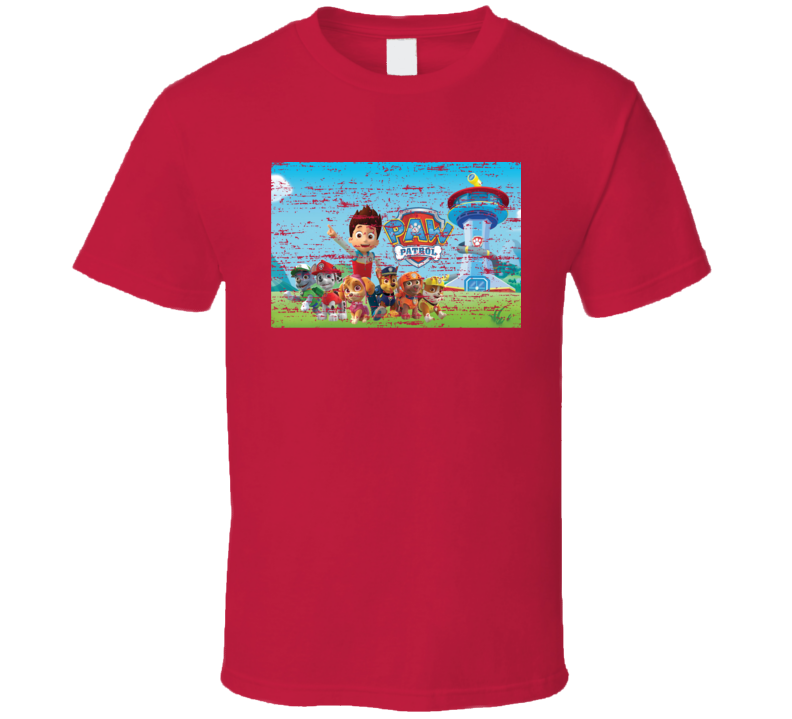 Paw Patrol Funny Worn Look TV Toons T Shirt