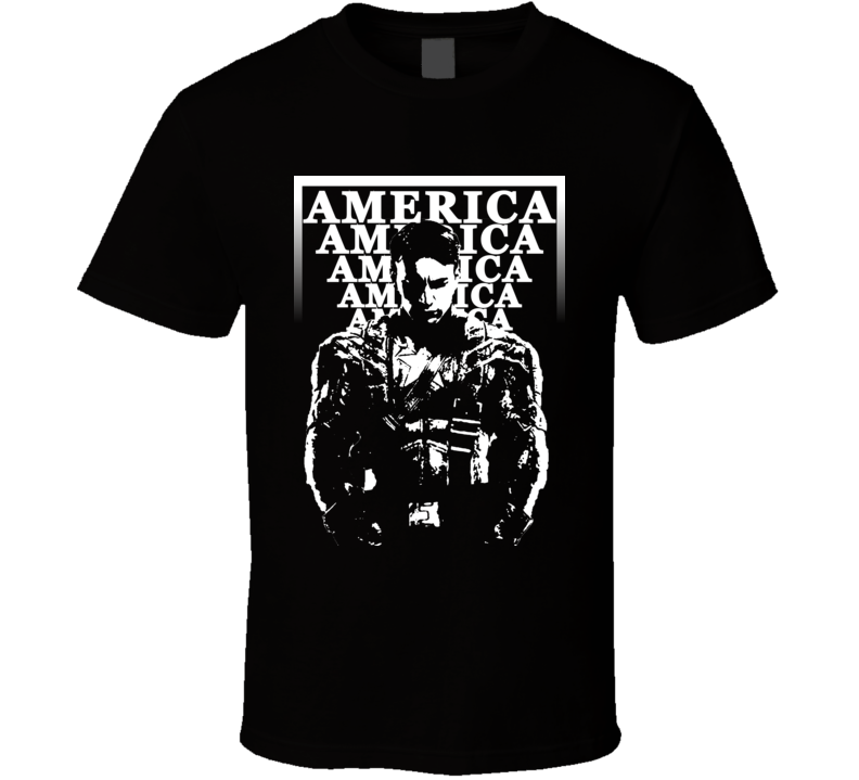 Captain America Popular Movie Characters Cool Retro T Shirt