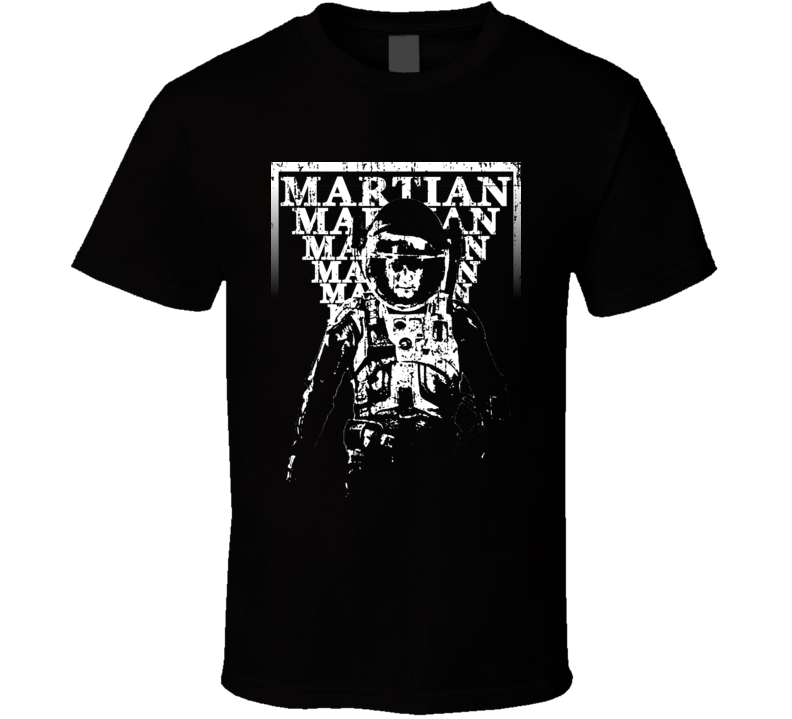 Mark Watney Popular Movie The Martian Characters Cool Retro Faded Look T Shirt