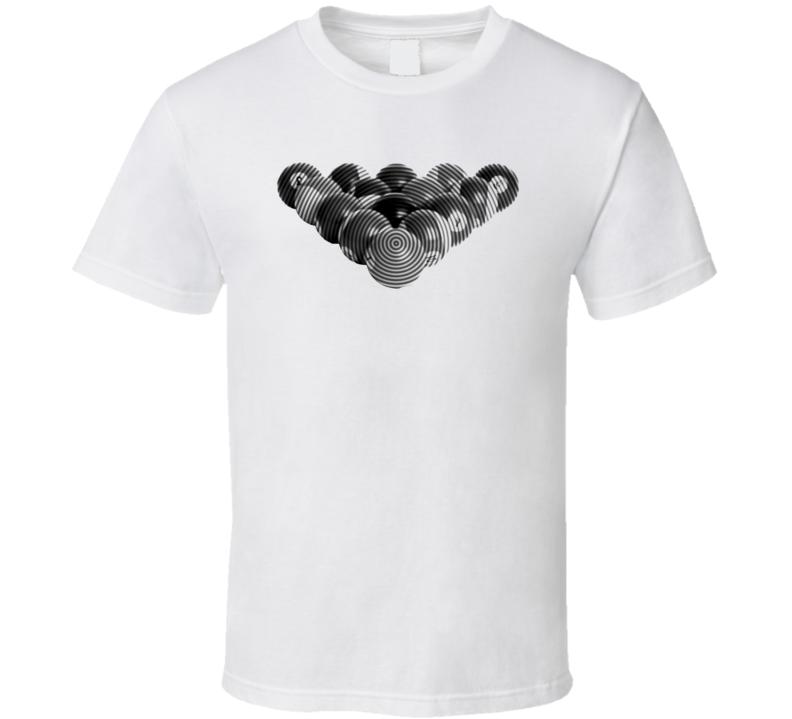 Pool Billiards Player 8 Ball Rack Cool Gift Ripple T Shirt