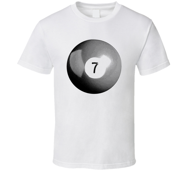 Pool Billiards Player Ball 7 Ripple Cool Gift T Shirt