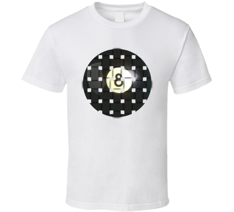 Pool Billiards Player Ball 8 Weave Cool Gift T Shirt