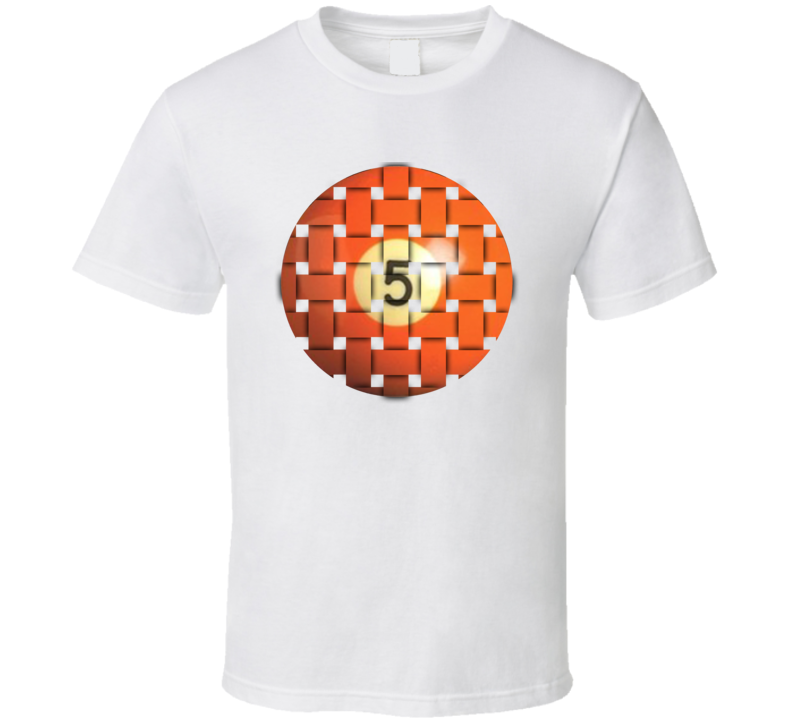 Pool Billiards Player Ball 5 Weave Cool Gift T Shirt
