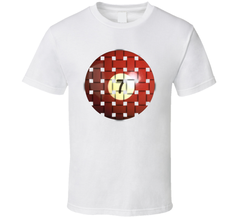 Pool Billiards Player Ball 7 Weave Cool Gift T Shirt