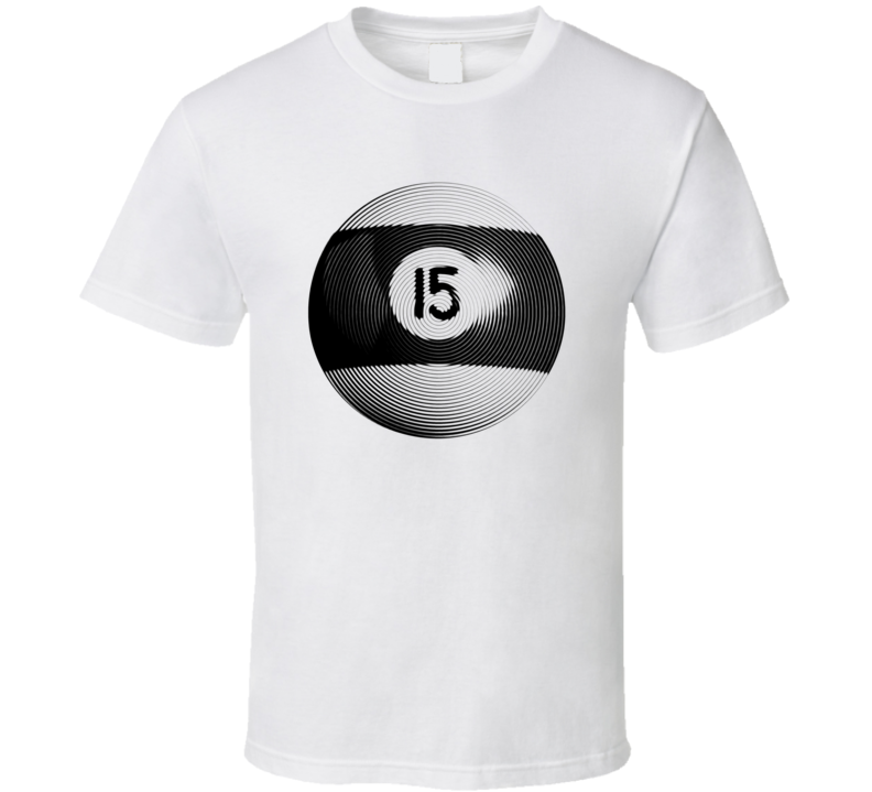 Pool Billiards Player Ball 15 Ripple Cool Gift T Shirt