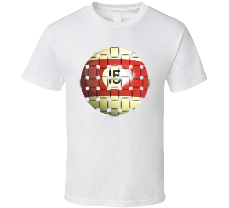 Pool Billiards Player Ball 15 Weave Cool Gift T Shirt