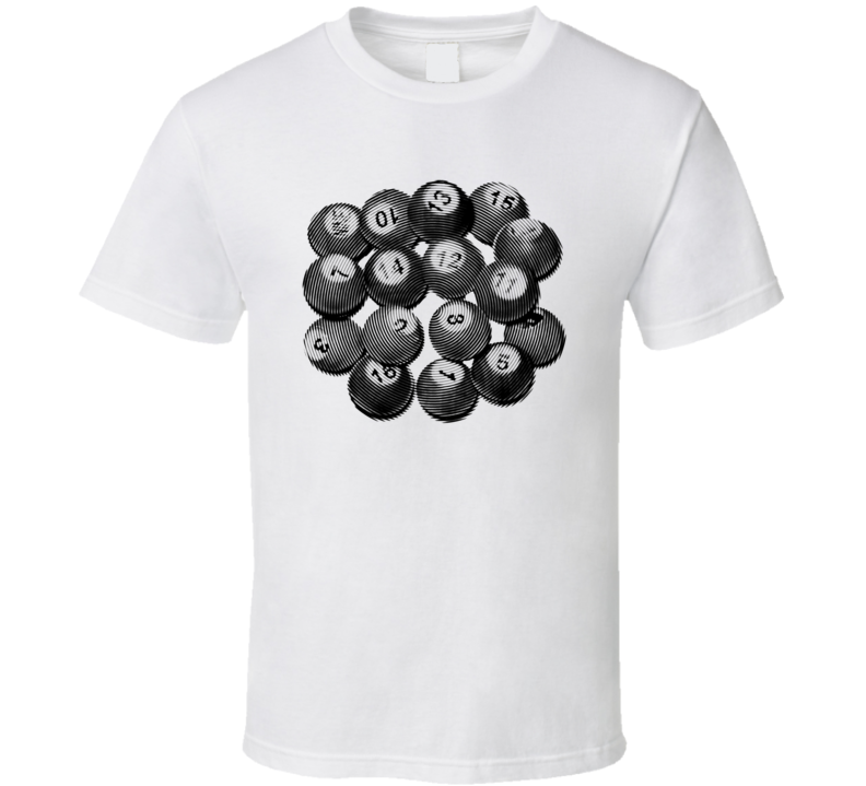 Pea Pool Tally Balls Cool Billiards Player Gift Ripple T Shirt