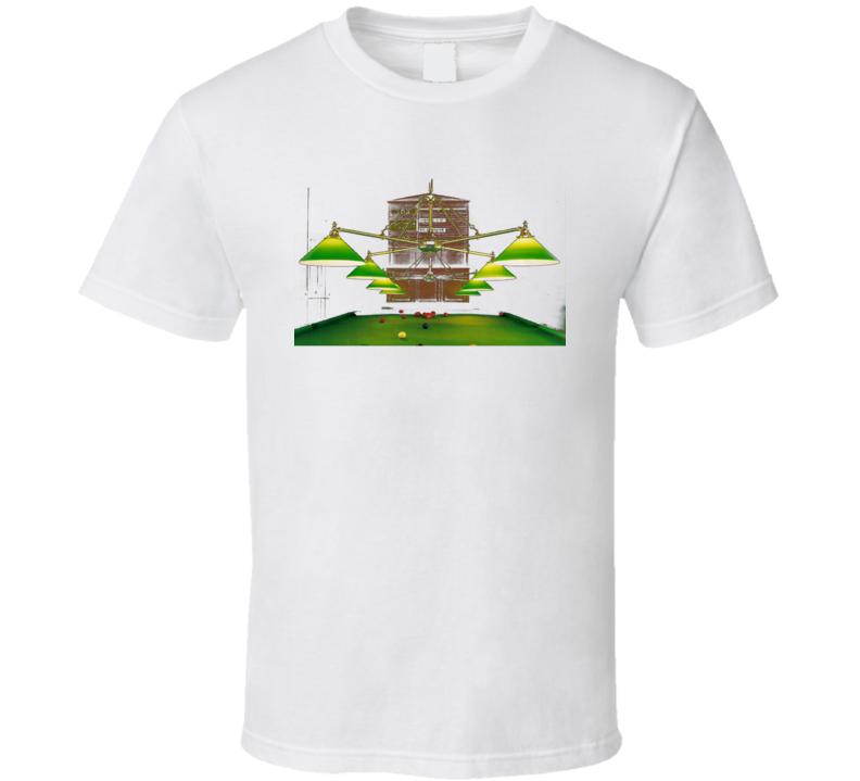 Pool Player Billiard Lamp Cool Gift T Shirt